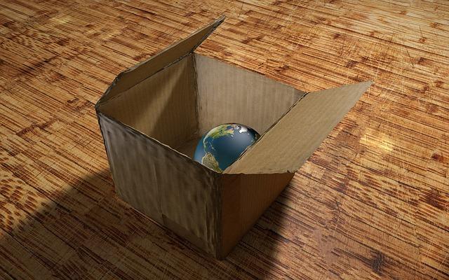 ボックスに収まる地球