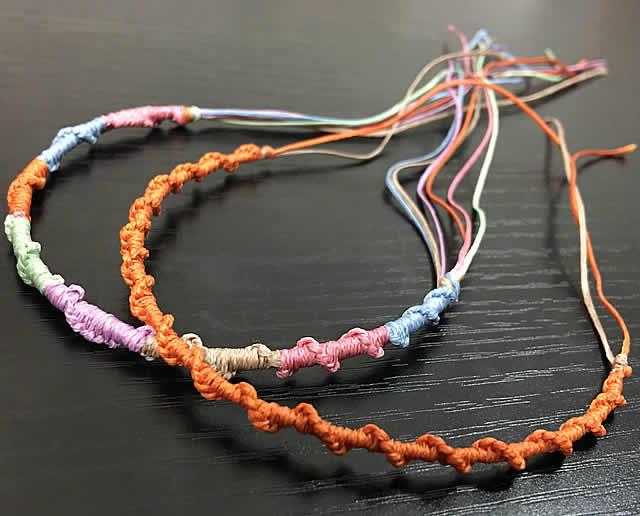 輪結びの編み方